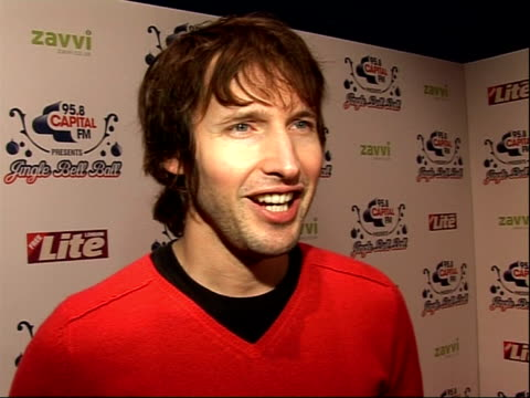 Arrivals and interviews James Blunt interview SOT on touring all year and how he gets through it how he still travels on public transport how he...