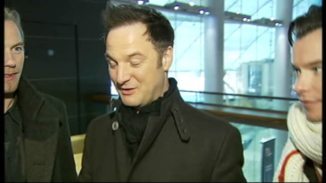 Jingle Bell Ball concert Boyzone interview SOT Reporter to camera