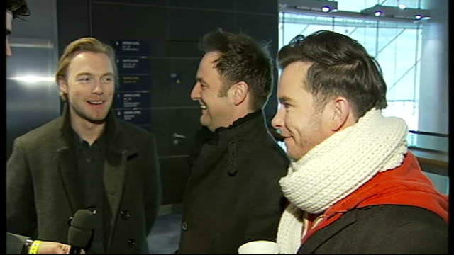 london ext boyzone interview sot - boy band stock videos & royalty-free footage
