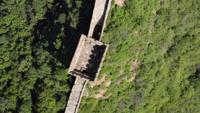 aerial ha ws jinshangling section of great wall of china, luanping county, hebei province, china - international landmark video stock e b–roll