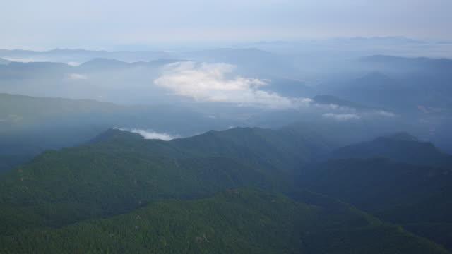 jirisan mountain cheonwangbong peak and mountain ridge scenery / guryegun, jeollanam-do, south korea - jeollanam do stock videos & royalty-free footage