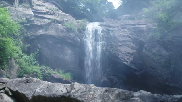jirisan mountain waterfall / gyeongsangnam-do, south korea - boulder rock stock videos & royalty-free footage