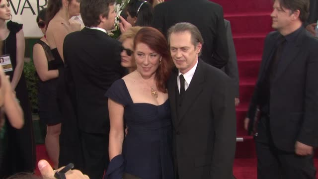 jo andres and steve buscemi at the 68th annual golden globe awards arrivals at beverly hills ca - steve buscemi stock videos & royalty-free footage