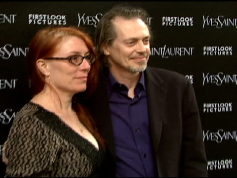 jo andres and steve buscemi at the 'paris je t'aime' premiere at paris theater in new york new york on may 1 2007 - paris theater manhattan stock videos and b-roll footage