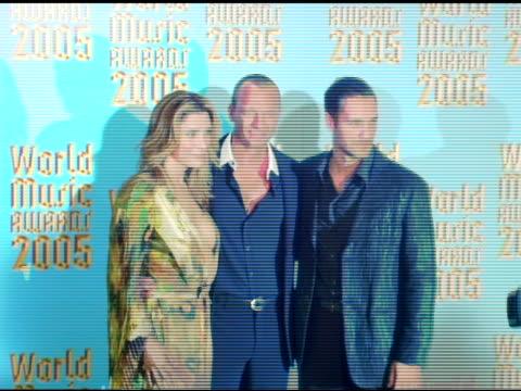 Jo Champa Biagio Antonacci and Raoul Bova at the 2005 World Music Awards press room at the Kodak Theatre in Hollywood California on September 1 2005