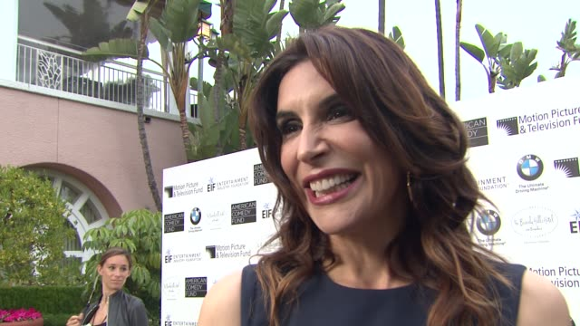 jo champa on what brings her out and what she is most looking forward to this evening at the 100th anniversary celebration of the beverly hills hotel... - beverly hills hotel stock videos & royalty-free footage