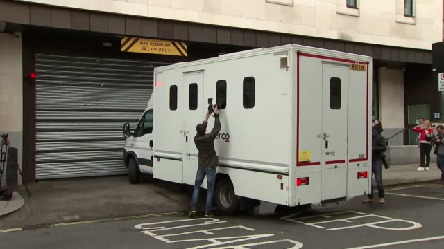 tommy mair court arrival england london westminster magistrates' court ext prison van arrival / photographers try to take photos through windows /... - thomas mair stock videos and b-roll footage
