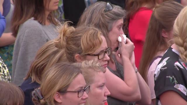 trafalgar square tribute; mariella frostrup speech sot - mariella frostrup stock videos & royalty-free footage