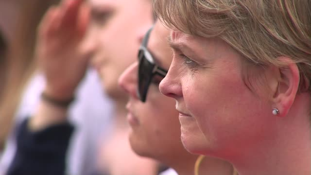 trafalgar square tribute yvette cooper mp closeup / flowers in fountains - jo cox politician stock videos and b-roll footage