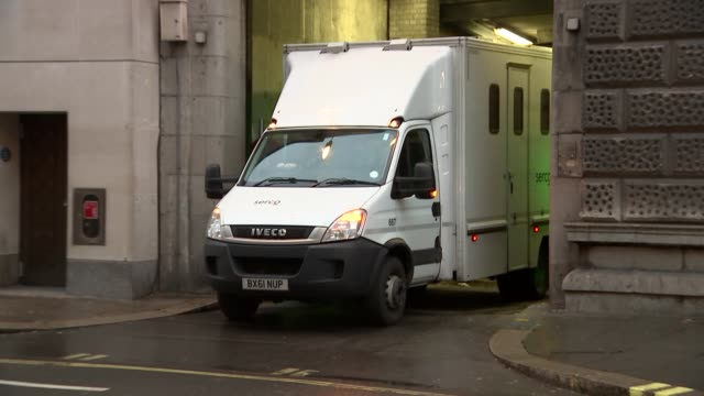 prison vans leaving court england london old bailey various shots of prison vans leaving court - thomas mair stock videos and b-roll footage