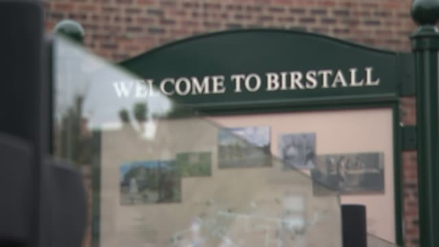jury shown pictures inside thomas mair's house t16111606 / tx west yorkshire birstall ext sign 'welcome to birstall' sign 'library information... - thomas mair stock videos and b-roll footage