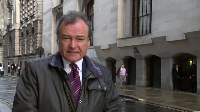 jury shown pictures inside thomas mair's house london old bailey reporter to camera - thomas mair stock videos and b-roll footage