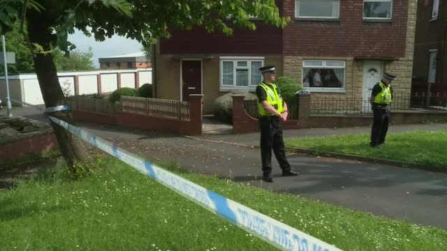 jury shown pictures inside thomas mair's house r16061614 / 1662016 england west yorkshire birstall police officers outside the house of murder... - thomas mair stock videos and b-roll footage