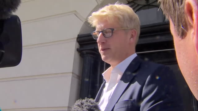 jo johnson speaking briefly to reporters after quitting his role as a government minister - leaving stock videos & royalty-free footage