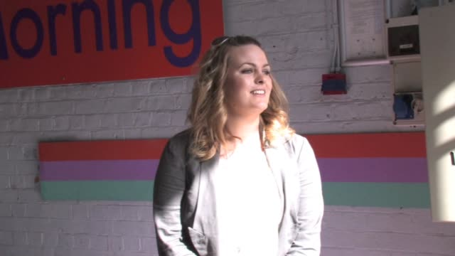 Jo Joyner at 'This Morning' studios after talking about the struggles of conceiving before resorting to IVF London UK