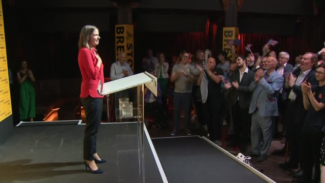 jo swinson elected new leader of liberal democrats: cutaways from victory rally; england: london: int cutaways from jo swinson mp victory rally as... - british liberal democratic party stock videos & royalty-free footage