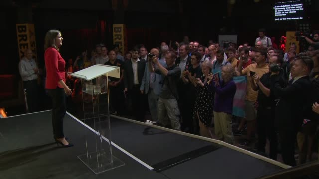 jo swinson elected new leader of liberal democrats: cutaways from victory rally; england: london: int cutaways from jo swinson mp address to victory... - british liberal democratic party stock videos & royalty-free footage