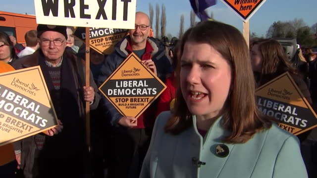 jo swinson liberal democrat leader at rally on the last campaigning day before general election i'm excited about these final hours as they can make... - last day stock videos & royalty-free footage