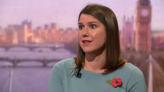 jo swinson saying the liberal democrats offer a brighter future than boris johnson's conservatives and jeremy corbyn's labour party whose leaders are... - bright stock videos & royalty-free footage