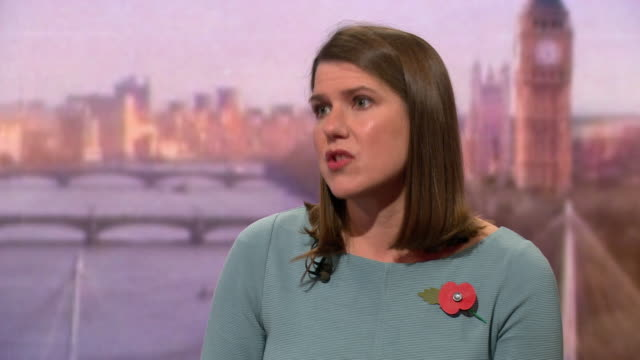 jo swinson saying the public should have a say on whether or not to go ahead with boris johnson's bad brexit deal - choice stock videos & royalty-free footage