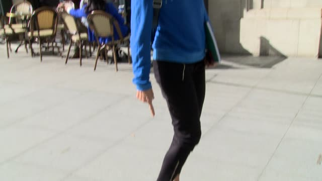 stockvideo's en b-roll-footage met jo whiley at celebrity sightings in london on march 21 2014 in london england - jo whiley