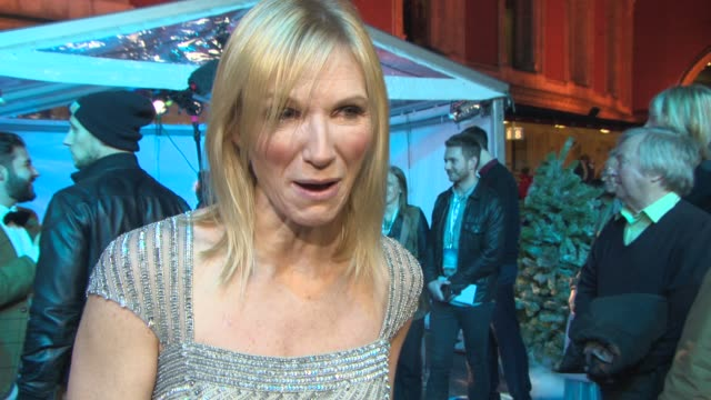 stockvideo's en b-roll-footage met interview jo whiley on why she likes 'frozen' on 'band aid 30' at 'frozen' singalong vip screening at royal albert hall on november 17 2014 in london... - jo whiley