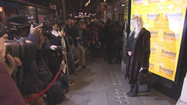 jo wood at beautifulthe carole king musical's birthday celebrations at aldwych theatre on february 23 2016 in london england - aldwych theatre stock videos & royalty-free footage