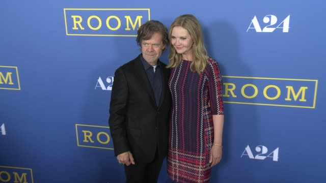 joan allen and william h macy at the room los angeles premiere at pacific design center on october 13 2015 in west hollywood california - joan allen stock videos and b-roll footage