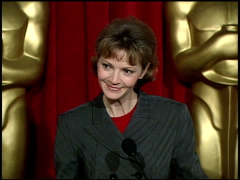 joan allen at the 1996 academy awards luncheon at the beverly hilton in beverly hills california on march 12 1996 - joan allen stock videos and b-roll footage