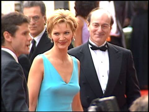 joan allen at the 2001 golden globe awards at the beverly hilton in beverly hills california on january 21 2001 - joan allen stock videos and b-roll footage