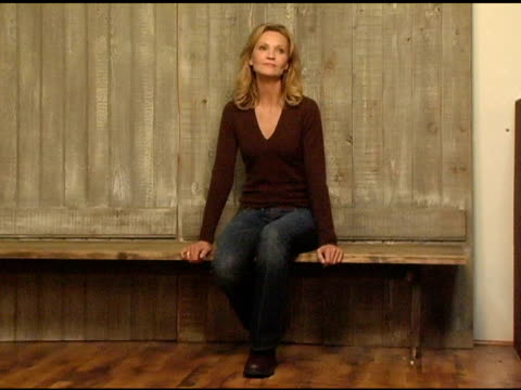 joan allen at the 2005 hp portrait studio presented by wireimage at hp portrait studio in park city utah on january 23 2005 - joan allen stock videos and b-roll footage