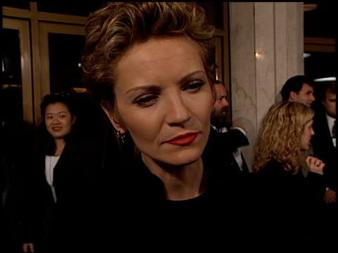 joan allen at the 'pleasantville' premiere at the mann national theatre in westwood california on october 19 1998 - mann national theater stock videos & royalty-free footage