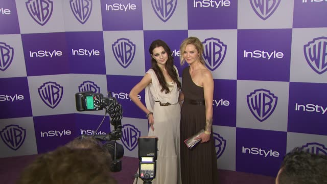 vídeos y material grabado en eventos de stock de joan allen at the warner bros and instyle golden globe afterparty at beverly hills ca - warner bros