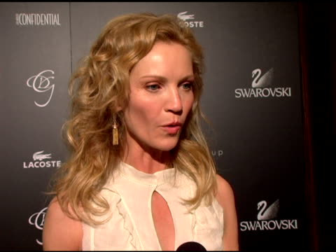 joan allen on how she feels to be honored for the distinguished actor honor and how much she respects costume designers for the work they do and why... - joan allen stock videos and b-roll footage
