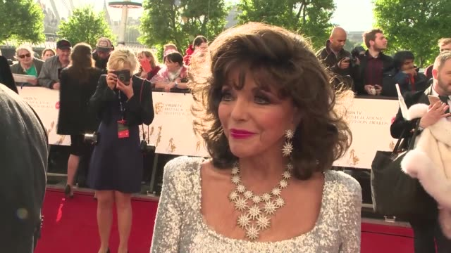 interview joan collins on her lack of interest in dynasty and her favourite british shows at the royal festival hall on may 14 2017 in london england - royal festival hall stock videos & royalty-free footage