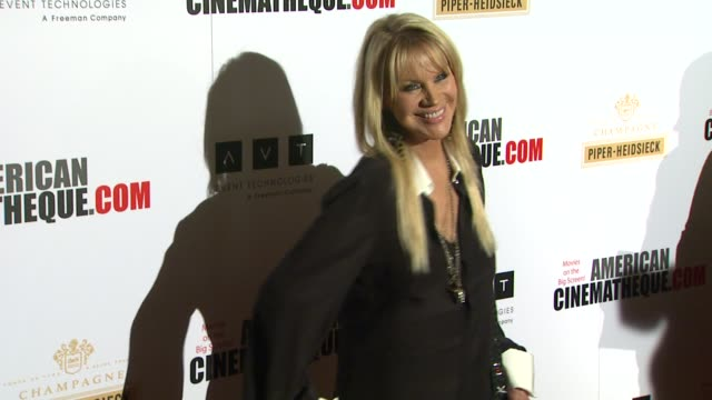joan dangerfield at american cinematheque's 27th annual award presentation honoring jerry bruckheimer in beverly hills ca on - american cinematheque stock videos & royalty-free footage