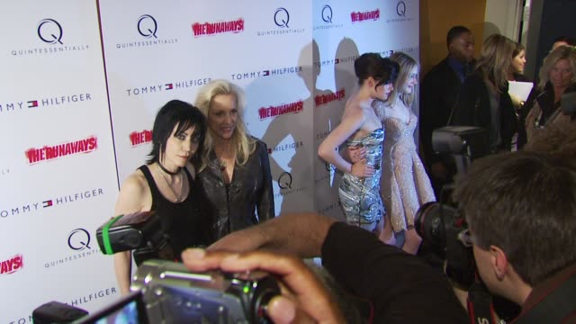 Joan Jett and Cherie Currie at the 'The Runaways' New York Premiere at New York NY