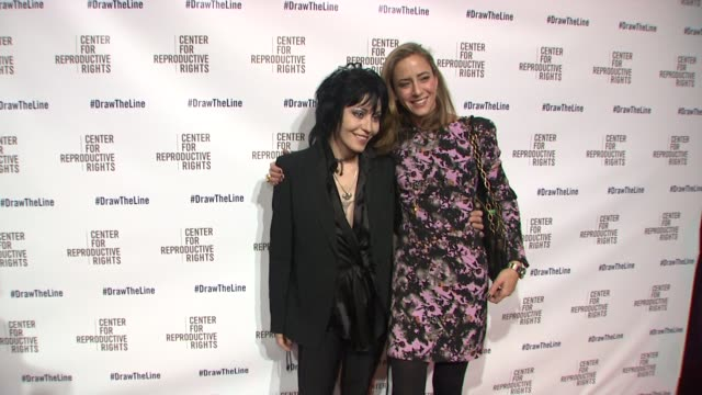 Joan Jett and guest at Center for Reproductive Rights 2013 Gala at Jazz at Lincoln Center on 10/29/13 in New York City