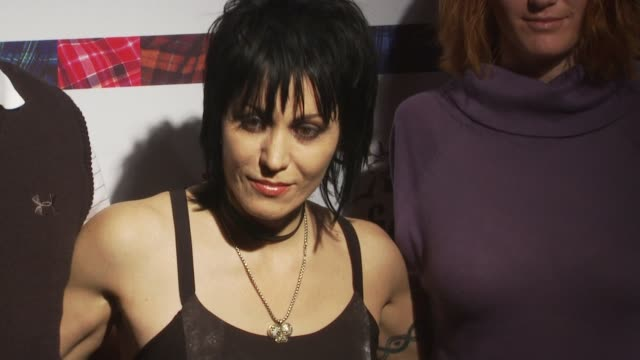 joan jett and guests at the 8th annual 'dressed to kilt' charity fashion show at new york ny - dressed to kilt stock videos & royalty-free footage