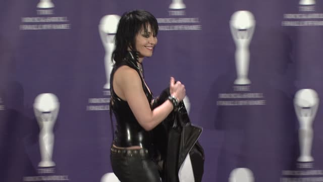 Joan Jett at the 23rd Annual Rock and Roll Hall of Fame Induction Ceremony press room at the Waldorf Astoria in New York New York on March 10 2008