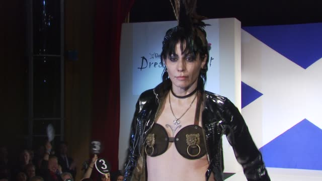joan jett at the 8th annual 'dressed to kilt' charity fashion show at new york ny - dressed to kilt stock videos & royalty-free footage