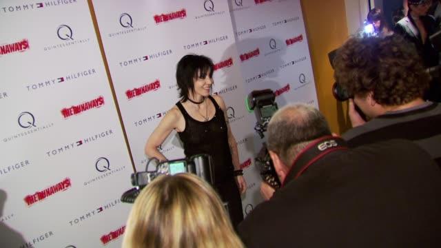 Joan Jett at the 'The Runaways' New York Premiere at New York NY