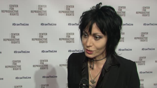 INTERVIEW Joan Jett on tonight's event why she wanted to be part of it On women's reproductive rights being threatened on human rights for everyone...