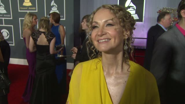 interview joan osborne on being a nominee and on how her music has changed over the years at the 55th annual grammy awards arrivals interviews in los... - grammy awards stock videos and b-roll footage
