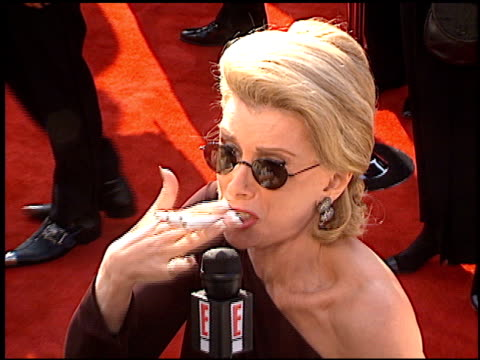 joan rivers at the 1997 academy awards arrivals at the shrine auditorium in los angeles california on march 24 1997 - 69th annual academy awards stock videos and b-roll footage