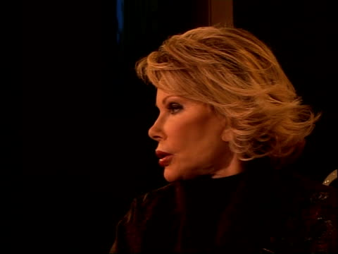 Joan Rivers photocall and interview Joan Rivers interview SOT On performance of Sylvester Stallone in film 'Rocky' / Describes her play 'Joan Rivers...