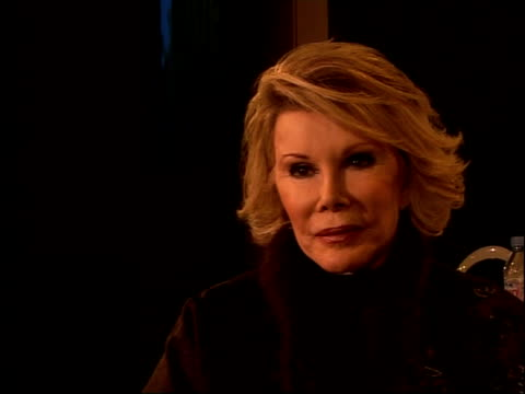 joan rivers photocall and interview joan rivers interview sot on problem with intimate knowledge of famous people / on worst people she has worked... - diane keaton stock videos & royalty-free footage