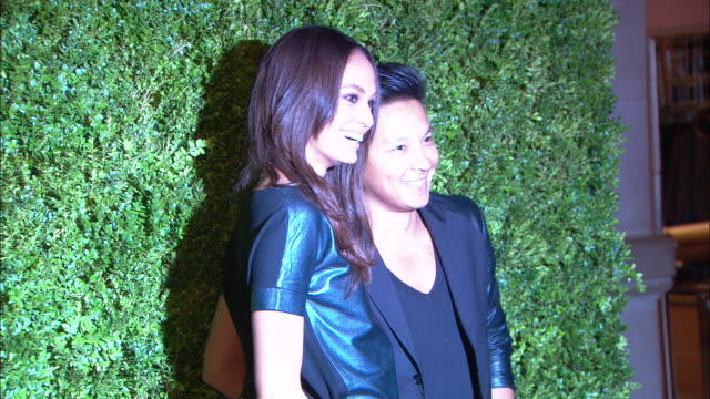 hd mcu zo zi ms joan smalls and prabal gurung posing for paparazzi on the red carpet at the metropolitan museum of art - joan smalls stock videos & royalty-free footage