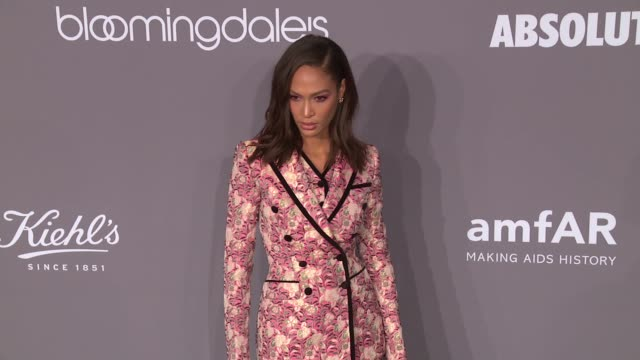 joan smalls at 20th annual amfar gala new york at cipriani wall street on february 07 2018 in new york city - amfar stock videos & royalty-free footage