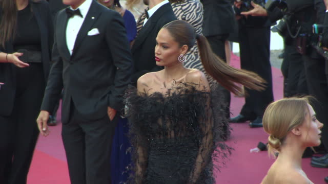 joan smalls at 'girls of the sun' red carpet arrivals the 71st cannes film festival at grand theatre lumiere on may 12 2018 in cannes france - joan smalls stock videos & royalty-free footage